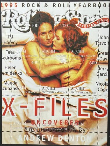 X-FILES STAMPS 1999 MNH SCI-FI ROLLING STONE MAG PRIVATE ISSUE DUCHOVNY ANDERSON