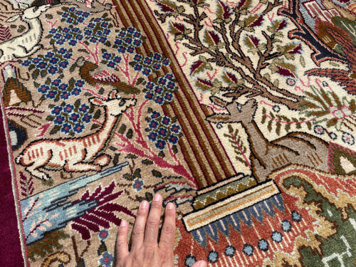 10x13 VINTAGE HANDMADE WOOL RUG HAND-KNOTTED oriental tree of life 9x12 10x14 ft