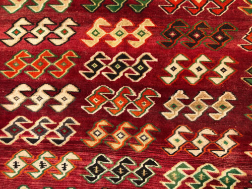 5x8 VINTAGE RUG HAND-KNOTTED WOOL ANTIQUE oriental caucasian tribal 5x7 6x7 6x8