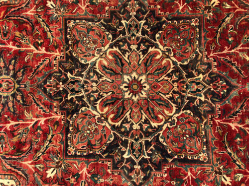 8x11 VINTAGE RUG HAND-KNOTTED wool handmade antique red handwoven 8x10 7x11 7x10