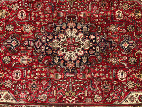 7x10 RED VINTAGE WOOL RUG HAND-KNOTTED oriental HANDMADE antique carpet 6x9 7x9