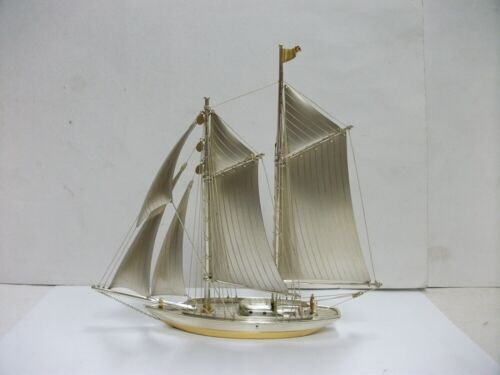 Sailboat of 970Sterling Silver of Japan. 2masts.#153g/ 5.39oz. Japanese Antique