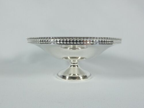 Antique Edwardian 1913 Sterling Silver Small Comport Tazza Footed Bowl DIsh H&S