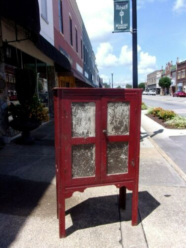 Southern Painted Oak & Pie Safe 19thc
