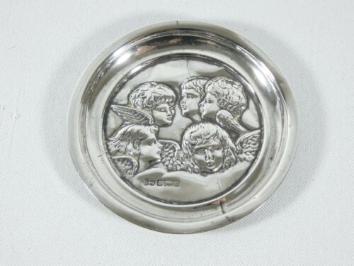 Antique Edwardian 1904 Sterling Silver Small Pin Tray Dish Reynolds Angels SB
