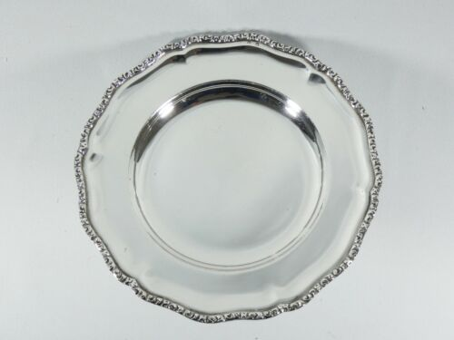 Antique Art Deco Heavy Solid 800 Silver Austro-Hungarian Dish Plate Sterling SA