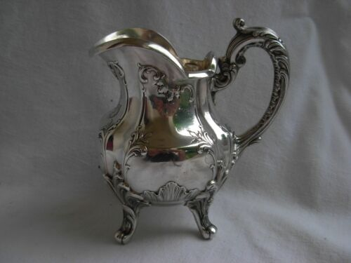 ANTIQUE FRENCH STERLING SILVER MILK JUG,LOUIS XV STYLE,EARLY 20th CENTURY