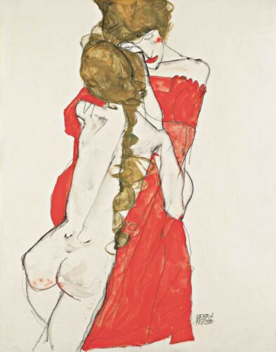 Egon Schiele Mother And Daughter Canvas Print 16 x 20     # 4809