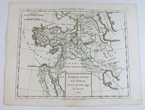 Antique Map of Turkey and Persia