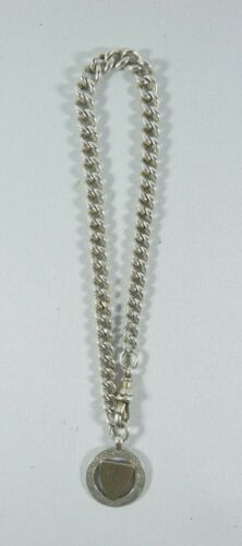 Antique Victorian 1882 Sterling Silver Albert Pocket Watch Chain Fob Graduating