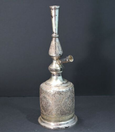 Persian Middle Eastern 800 Silver Smoke Pipe 20th century