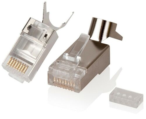 Alogic 8P8C CAT6A Fully Shielded Modular Crimp for 22AWG~23AWG Wire Pack of 10