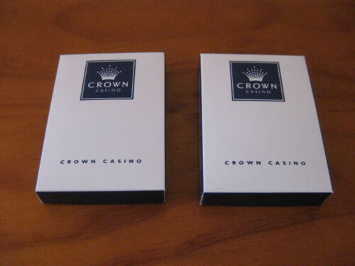 2 Crown Casino Poker, Blackjack playing cards. Undrilled, rare as, collectable.