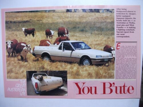 1987 FORD XF FALCON THE GREAT AUSTRALIAN UTE 6 PAGE REVIEW ARTICLE