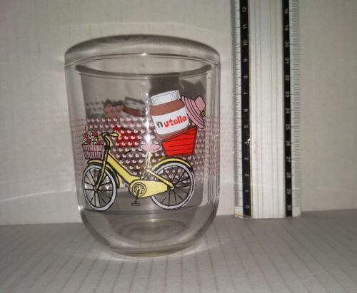 Nutella bicycle collectable glass