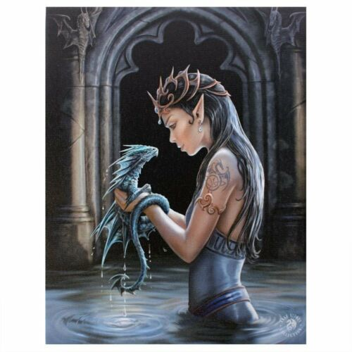 Water Dragon Canvas Plaque by Anne Stokes - Something Different