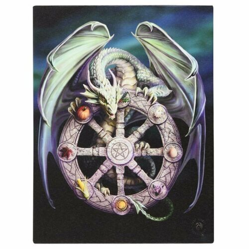 Wheel of the Year Dragon Canvas Plaque by Anne Stokes - Something Different