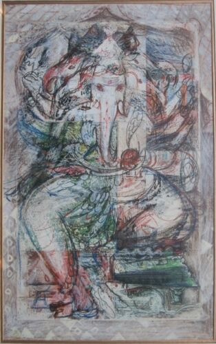 South Asian Contemporary Modern Art India Deity Painting By Artist M. Sivanesan