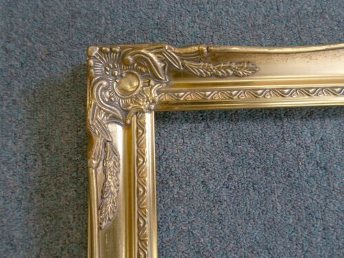 Picture Frame- Vintage Bright & Dark Gold Antique Ornate Classic-678G-    16x20