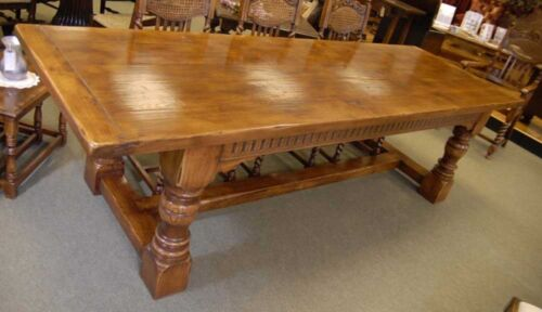 English Abbey Oak Farmhouse Refectory Table Tables Dine