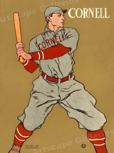 1908 Cornell College Baseball Vintage Style Sports Poster - 18x24Art Posters - 28009