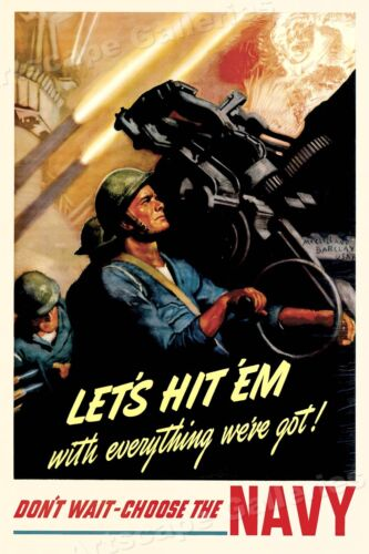 1942 Enlist in the Seabees Build for the Navy WWII Historic Poster 16x24