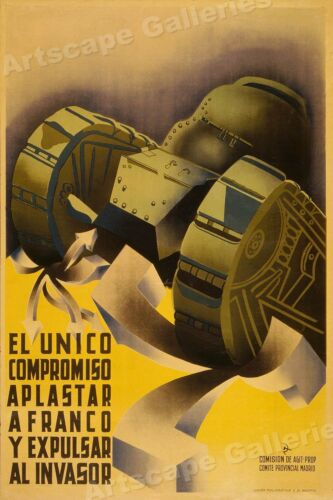 """""""The Only Compromise"""" 1930s Spanish Civil War Poster - 24x36Art Posters - 28009"""