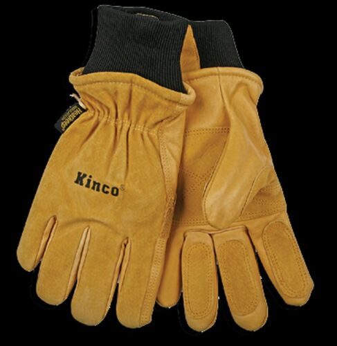 Kinco 901 Mens Leather Ski Gloves Heatkeep Winter Work Warm Thermal Pigskin NEW