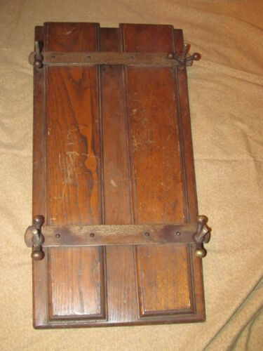Antique Oak and Iron Textile or Clothing Press