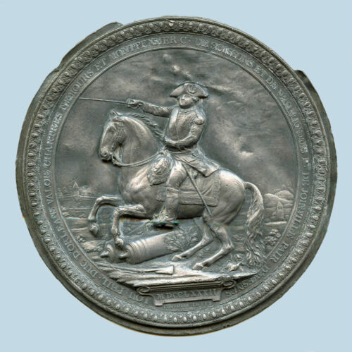 ORIGINAL EARLY 19c PEWTER MEDALLION OF DUC D'ORLEANS (1747-1793)  BY LORTHIOR