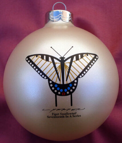 Charlie/ Charley Harper - Glass Christmas Ornament - TIGER SWALLOWTAIL BUTTERFLY