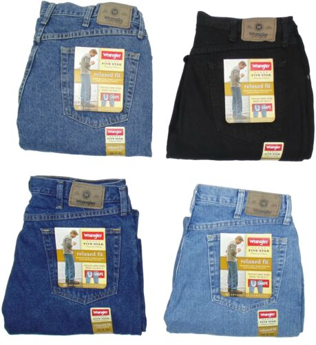 Wrangler Mens Jeans Relaxed Fit Five Star Many Sizes Many Colors New With Tags <br/> 1000-х покупателей в России!  100% Genuine Wrangler.