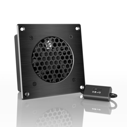 """AIRPLATE S1, Quiet Cabinet Fan 4"""" for Home Theater AV Amplifier Media Cooling"""