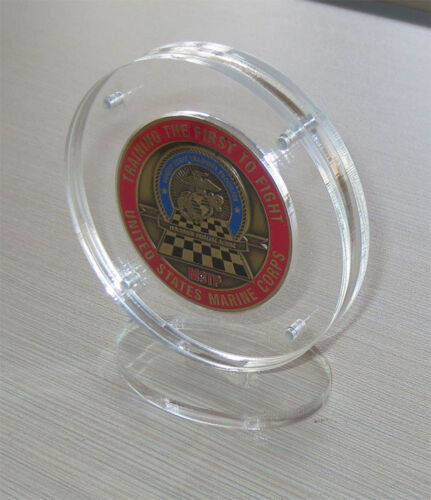 """1.75"""" Military Challenge Coin Display Holder Case Stand w/ Magnetic Fastener  Challenge Coins - 74710"""