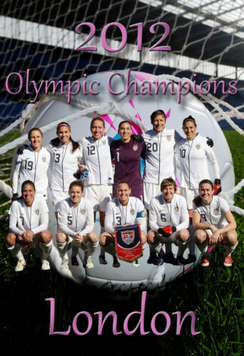 2012 Olympic Poster/ United States/America Women's World Cup Soccer Team Poster.