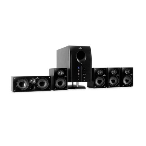 5.1 AKTIV SURROUND LAUTSPRECHER SYSTEM PC DVD BOXEN SET MULTIMEDIA HEIMKINO 95 W