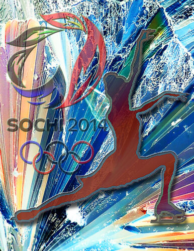 Olympic Poster/2014 sochi.ru //Russia/Women's Figure Skating/Skater/8x10 inches