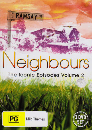 Neighbours-Iconic Episodes:Vol 2 (DVD, 2007 3-Disc Set) Kylie Minogue-Guy Pearce