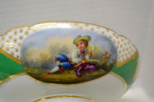 Antique Pair of Lerosey Porcelain Compotes - 19th Century French