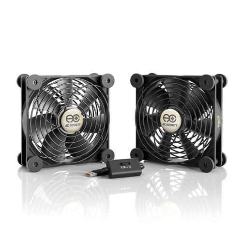 MULTIFAN S7, Quiet Dual 120mm USB Cooling Fan for Receiver DVR Computer Cabinets
