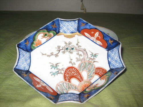 ANTIQUE CHENESE BRUSH WASHER OCTAGON PORCELAIN