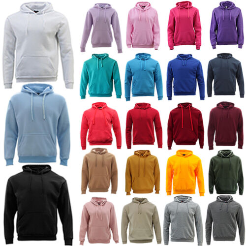 Adult Men's Unisex Basic Plain Hoodie Jumper Pullover Sweater Sweatshirt XS-5XL  <br/> Fast Shipping From MEL, Embroidery Services Available