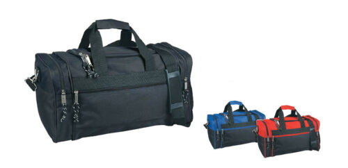 "20"" Large Duffle Bag Duffel Bag Royal Blue Red and Black Sports Travel Gym Bag"