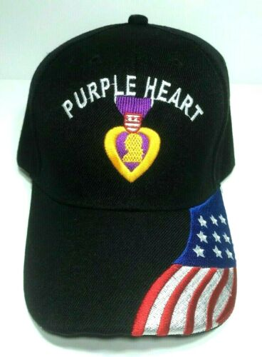 PURPLE HEART BALL CAP (USAF USMC USN US ARMY USCG) MILITARY BIN 10Other Militaria (Date Unknown) - 66534