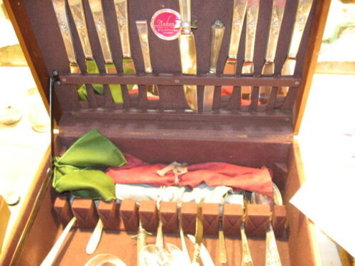 Reed & Barton Sterling Classic Rose Flatware w/Box 63 Pieces