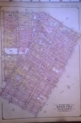 Orig 1927 E. Belcher Hyde Atlas Map RIDGEWOOD QUEENS NY 70TH ST - MENAHAN ROAD