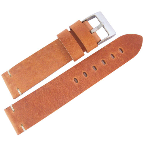 20mm ColaReb Siena Mens Tan Leather Made in Italy Watch Band Strap