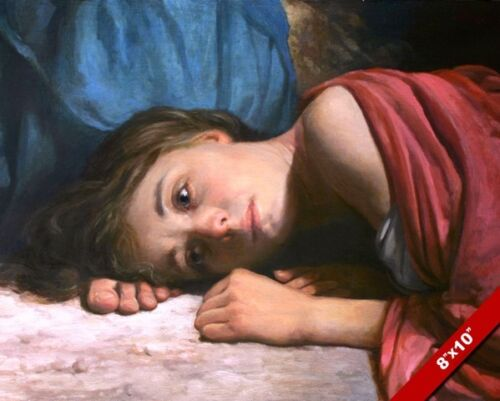 WOMAN AT THE FEET OF JESUS CHRIST PAINTING CHRISTIAN BIBLE ART CANVAS PRINT