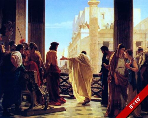 ECCE HOMO BEHOLD THE MAN JESUS PAINTING CHRISTIAN BIBLE ART REAL CANVAS PRINT