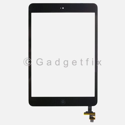 USA Touch Screen Glass Digitizer IC Connector Home Button Flex for Ipad Mini 1 2